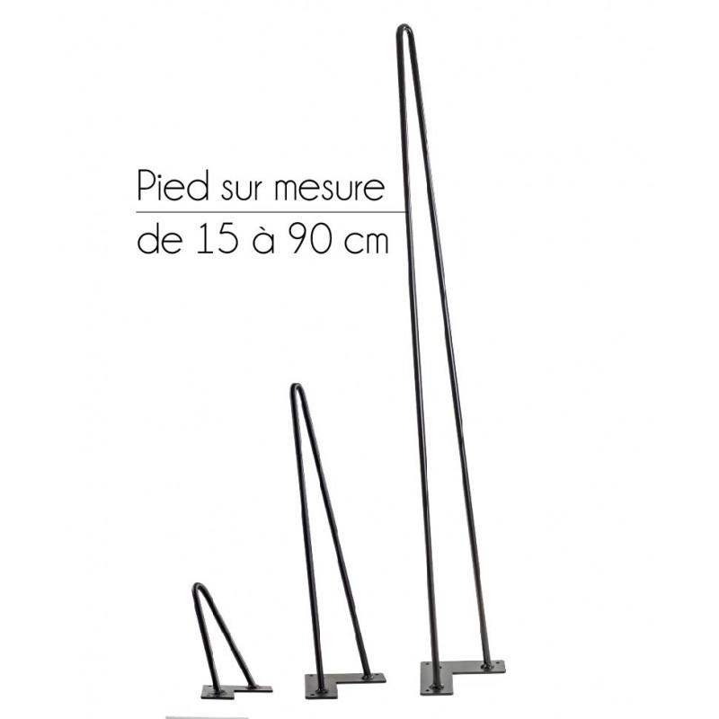 pied sur mesure 15 90cm hairpin legs la fabrique des pieds. Black Bedroom Furniture Sets. Home Design Ideas