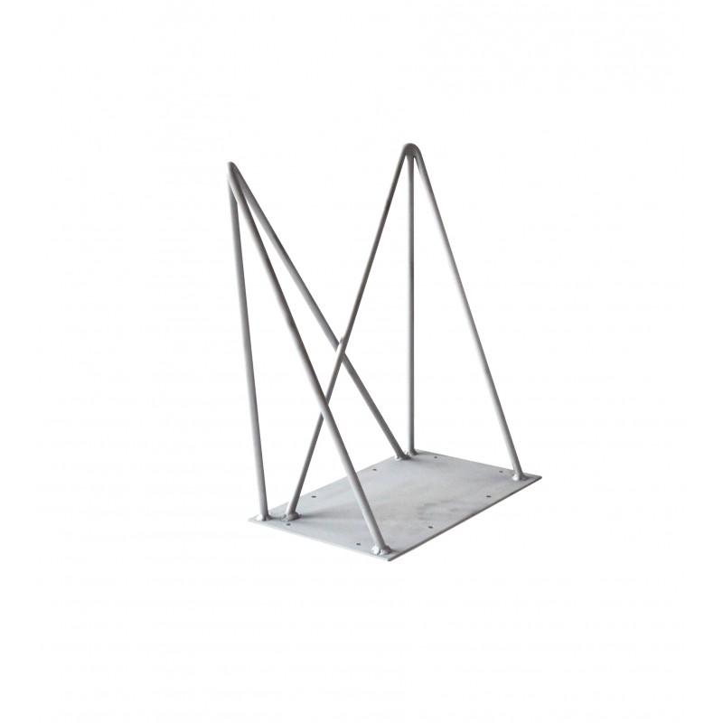 pied de table double 40cm hairpin legs la fabrique des. Black Bedroom Furniture Sets. Home Design Ideas