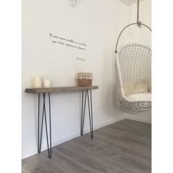 pied de table skate 71cm hairpin legs la fabrique des pieds. Black Bedroom Furniture Sets. Home Design Ideas