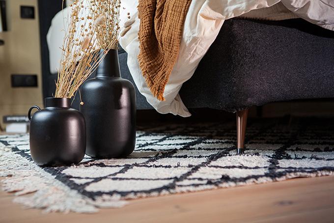 Pied de lit conique cuivre
