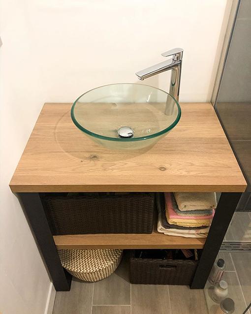 petite salle de bain fer plat infini