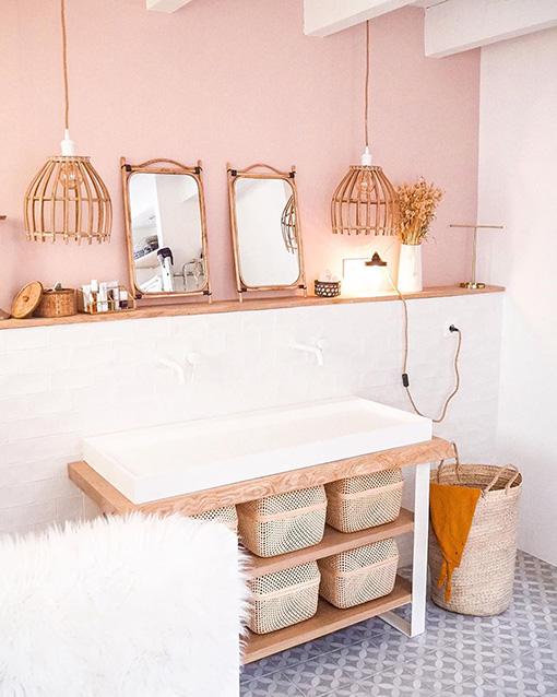 grande salle de bain fer plat infini blanc