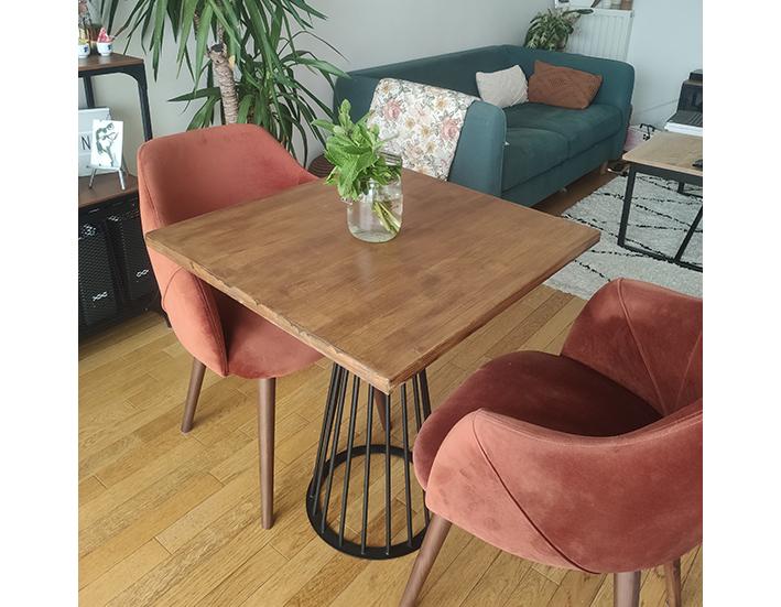 petite table carrée et design