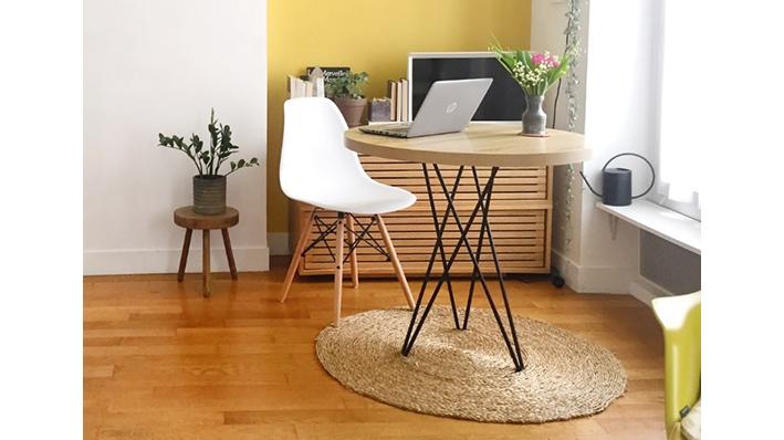 table multifonction avec pied circulaire