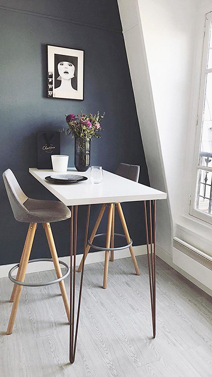 table haute colorée 1