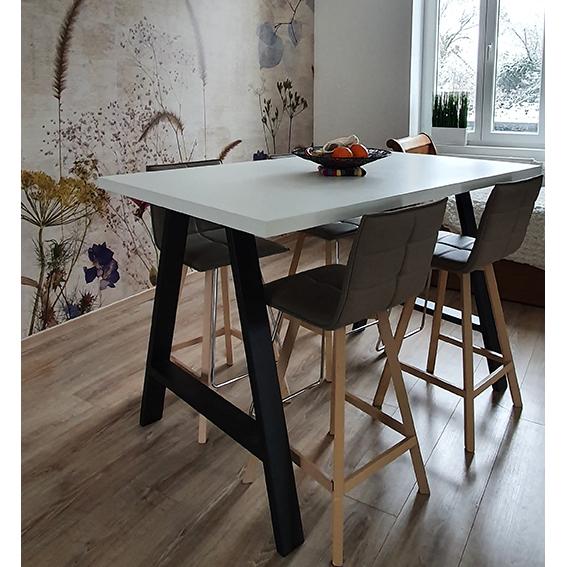 table haute treteau