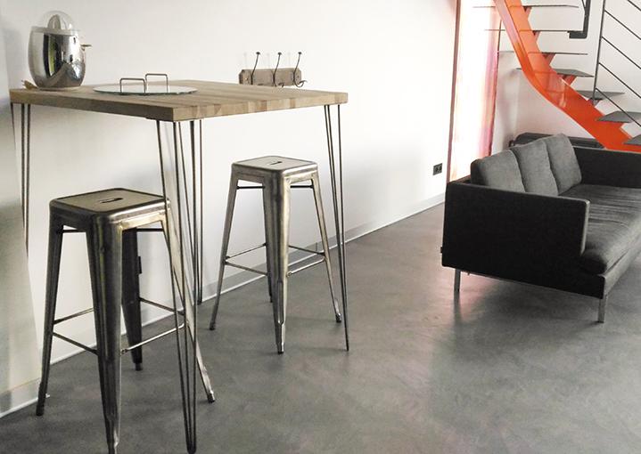 table haute style loft