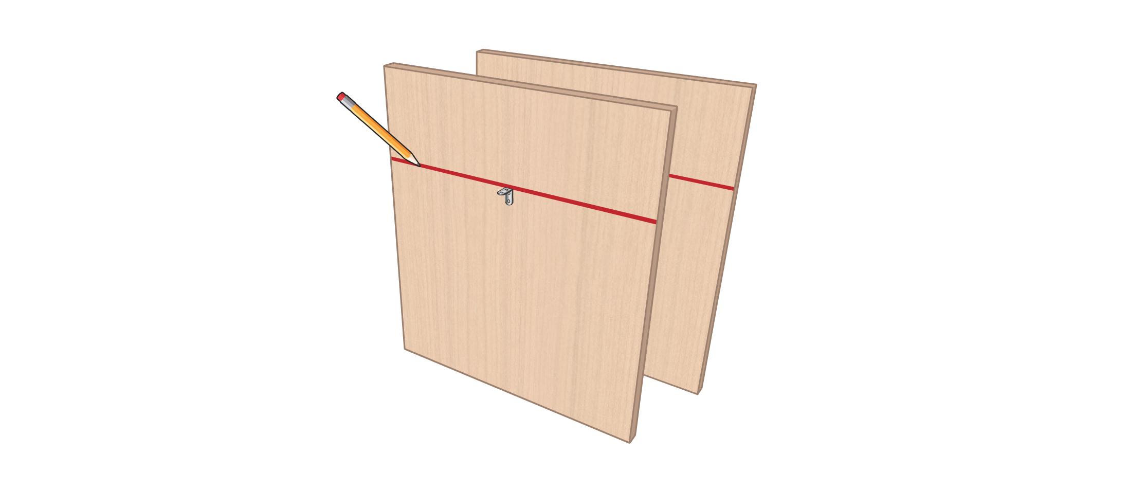 meuble vinyle DIY étape 2