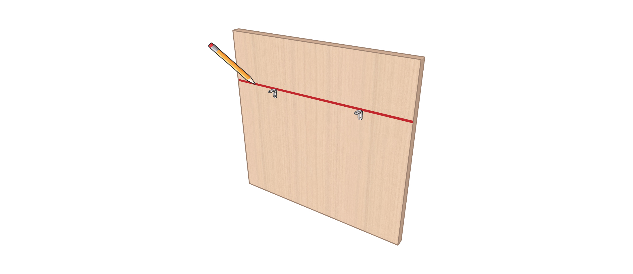 meuble vinyle DIY étape 1
