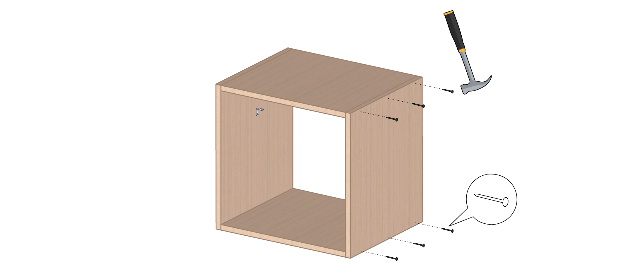 meuble vinyle DIY étape 3