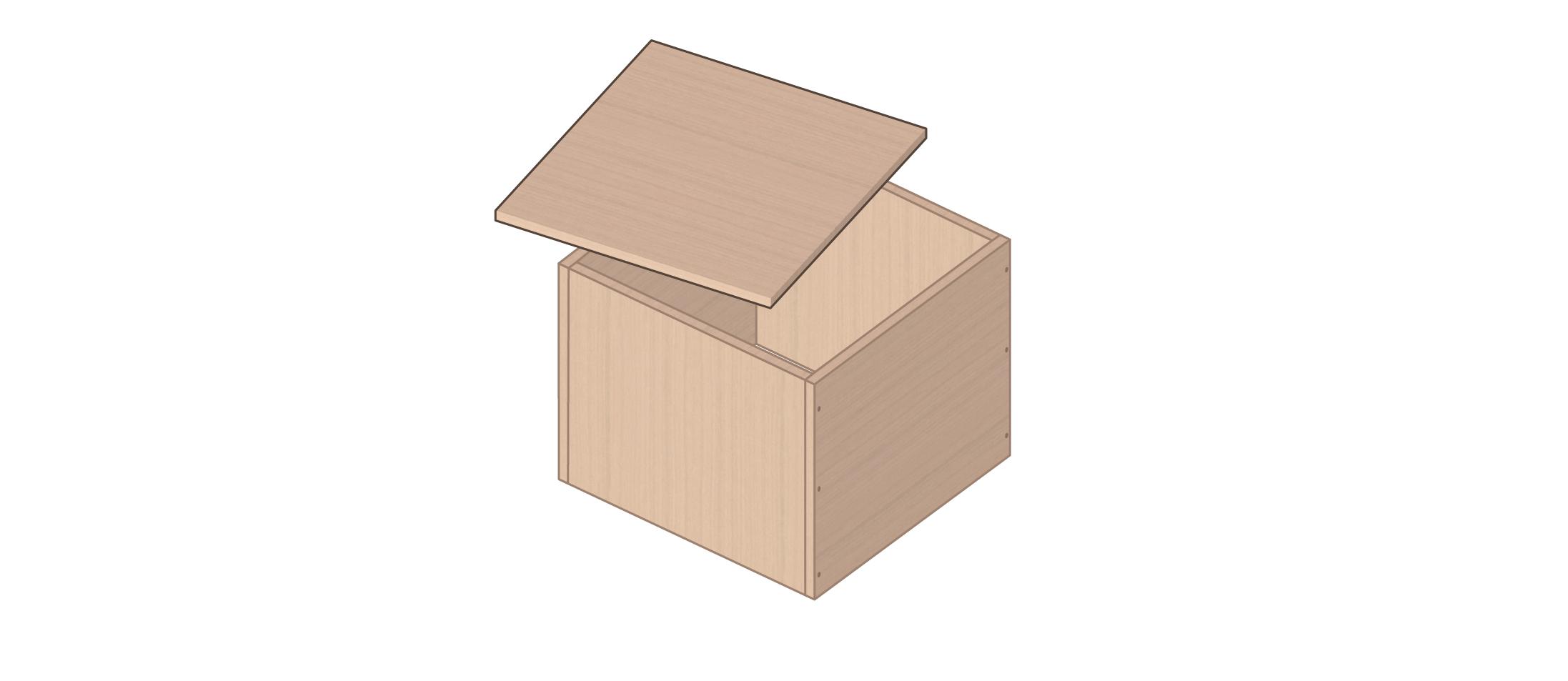 meuble vinyle DIY étape 4