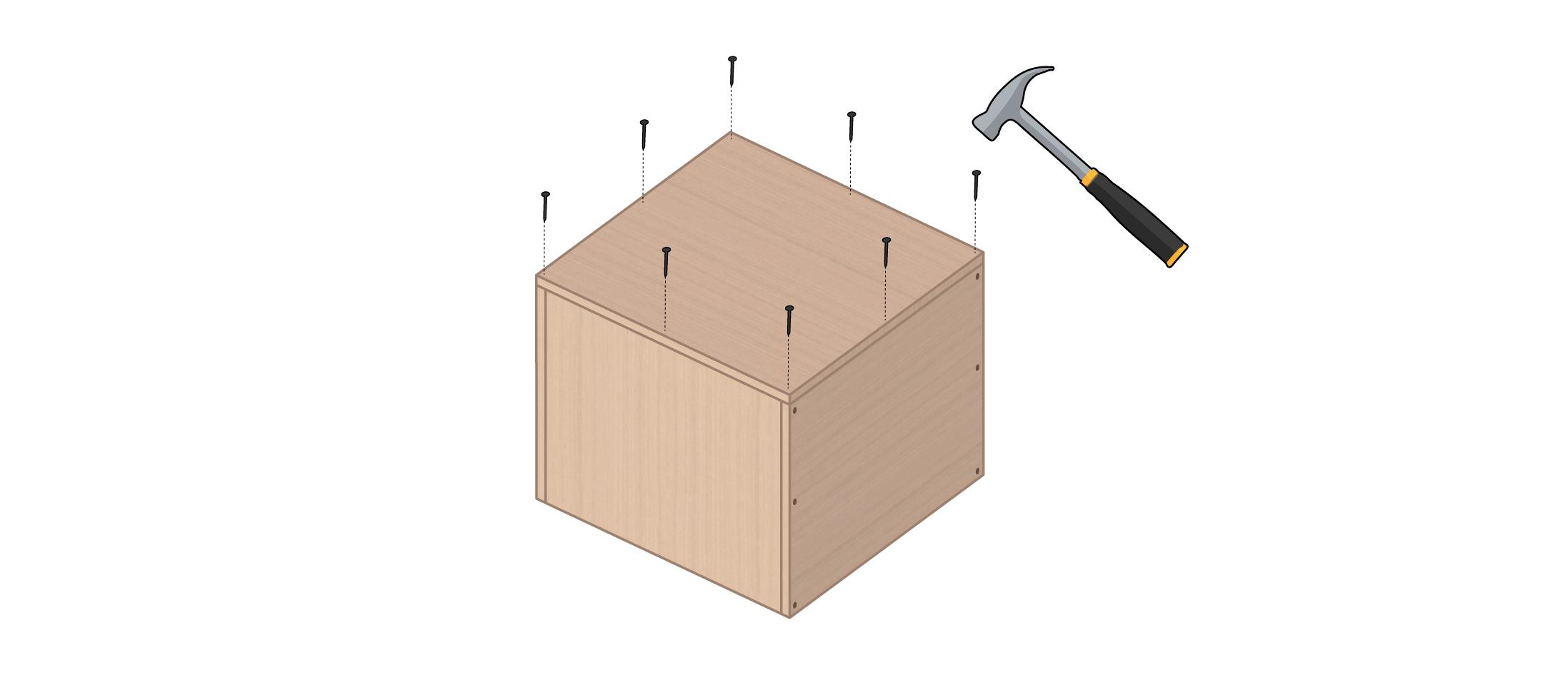 meuble vinyle DIY étape 5