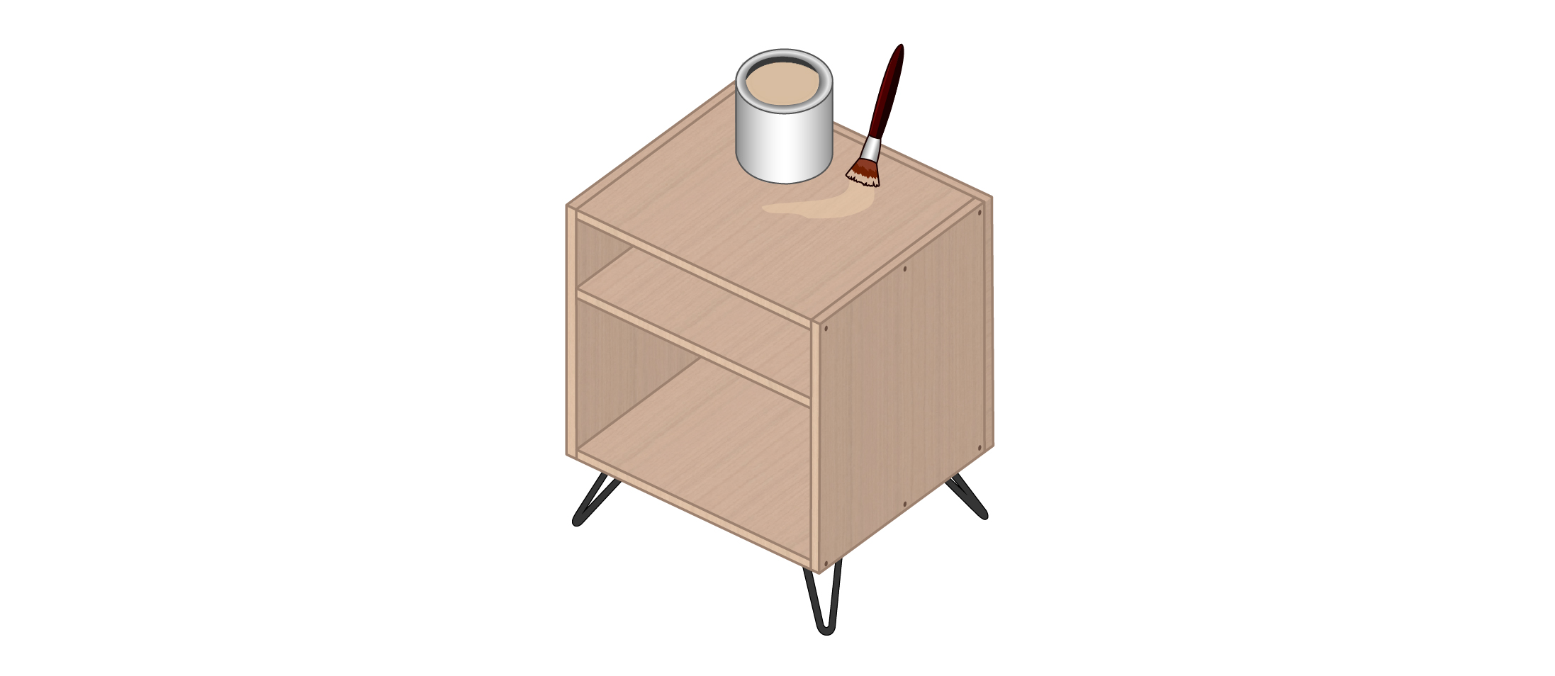 meuble vinyle DIY étape 8