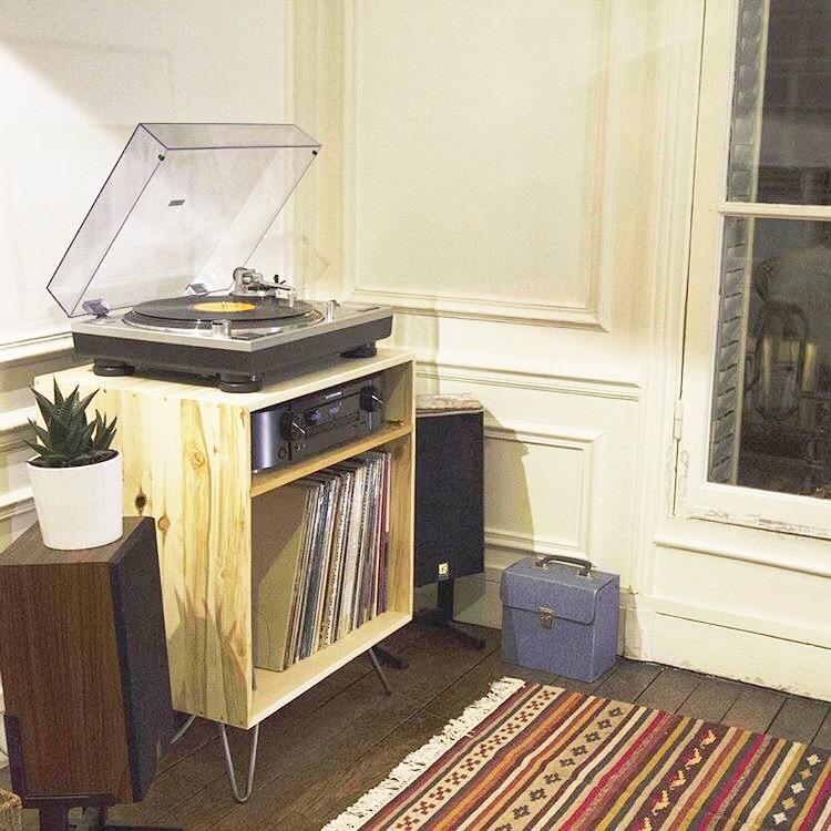 meuble vinyle DIY sur mesure