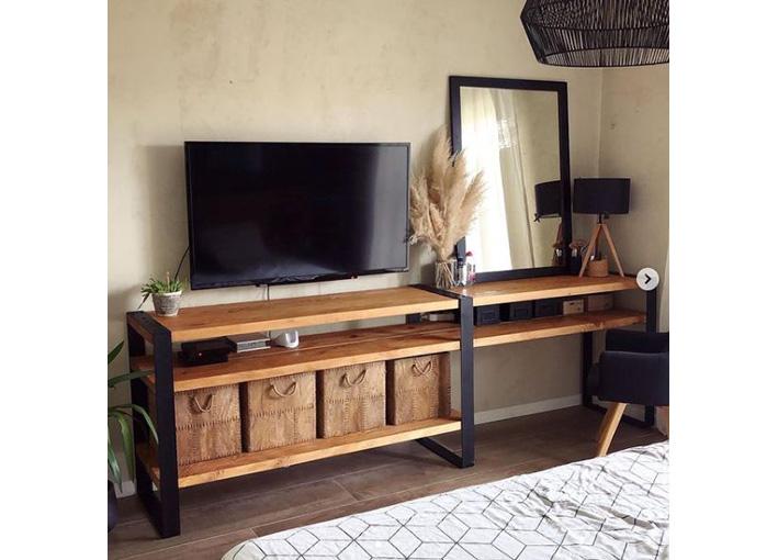 meuble tv avec étage