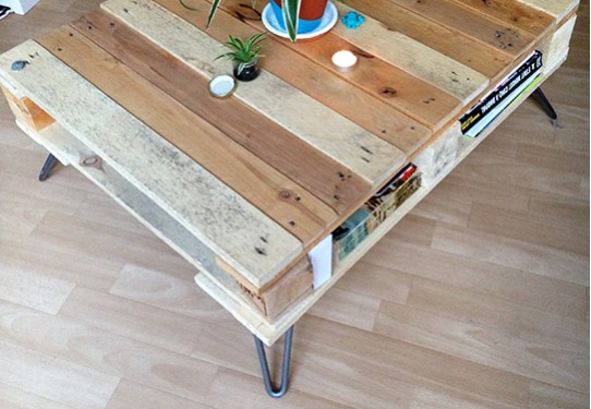 ARTICLE DIY : TABLE BASSE AVEC PALETTE
