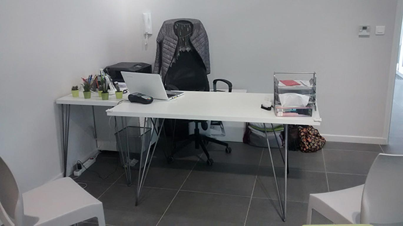 Pied double bureau
